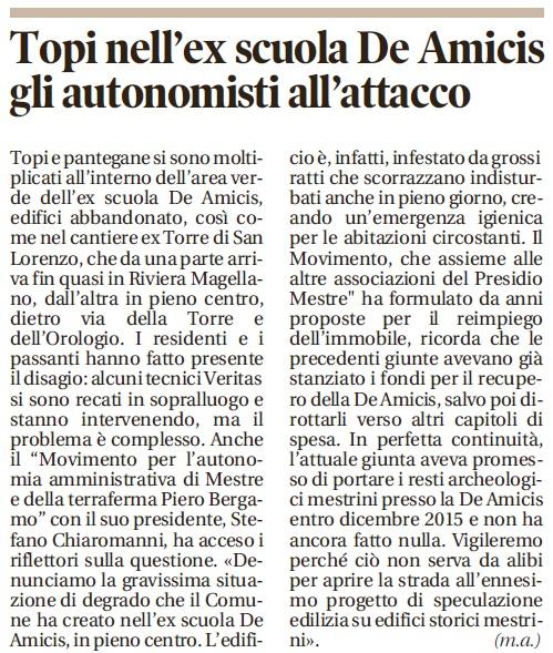Nuova Venezia, 8 dicembre 2016, p. 17